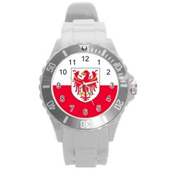 Flag of South Tyrol Round Plastic Sport Watch (L)