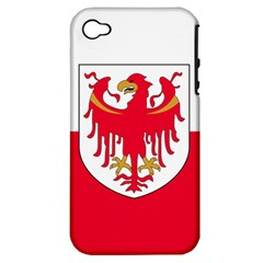 Flag of South Tyrol Apple iPhone 4/4S Hardshell Case (PC+Silicone)