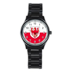 Flag of South Tyrol Stainless Steel Round Watch