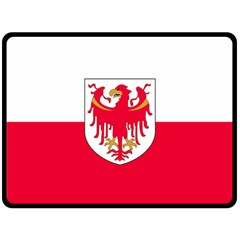 Flag of South Tyrol Double Sided Fleece Blanket (Large)