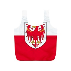 Flag of South Tyrol Full Print Recycle Bags (S)