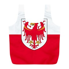 Flag of South Tyrol Full Print Recycle Bags (L)
