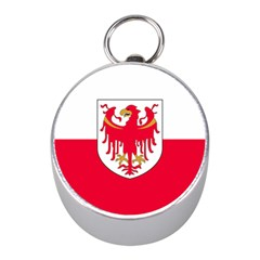 Flag of South Tyrol Mini Silver Compasses