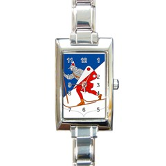 Lillehammer Coat of Arms  Rectangle Italian Charm Watch