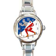 Lillehammer Coat of Arms  Round Italian Charm Watch