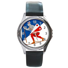 Lillehammer Coat of Arms  Round Metal Watch