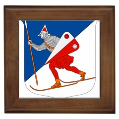 Lillehammer Coat of Arms  Framed Tiles