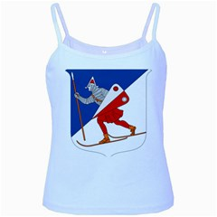 Lillehammer Coat of Arms  Baby Blue Spaghetti Tank