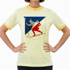 Lillehammer Coat of Arms  Women s Fitted Ringer T-Shirts