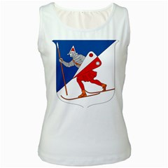 Lillehammer Coat of Arms  Women s White Tank Top