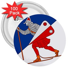 Lillehammer Coat of Arms  3  Buttons (100 pack)