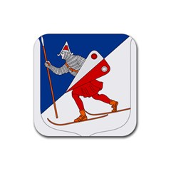 Lillehammer Coat of Arms  Rubber Square Coaster (4 pack)