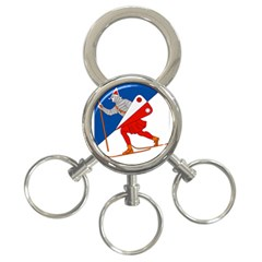 Lillehammer Coat of Arms  3-Ring Key Chains