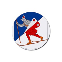 Lillehammer Coat of Arms  Rubber Round Coaster (4 pack)