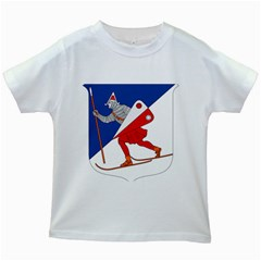 Lillehammer Coat of Arms  Kids White T-Shirts