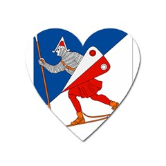 Lillehammer Coat of Arms  Heart Magnet