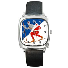 Lillehammer Coat of Arms  Square Metal Watch