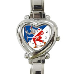 Lillehammer Coat of Arms  Heart Italian Charm Watch