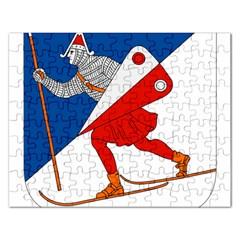 Lillehammer Coat of Arms  Rectangular Jigsaw Puzzl