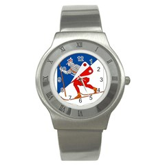 Lillehammer Coat of Arms  Stainless Steel Watch