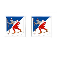 Lillehammer Coat of Arms  Cufflinks (Square)