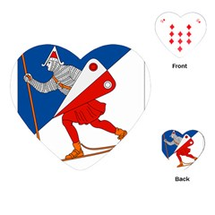 Lillehammer Coat of Arms  Playing Cards (Heart)