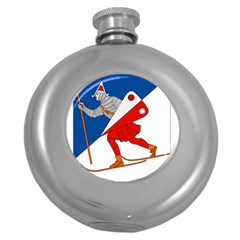Lillehammer Coat Of Arms  Round Hip Flask (5 Oz)