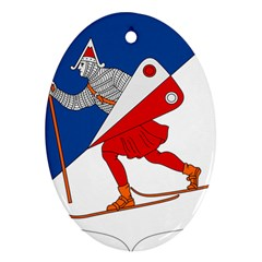 Lillehammer Coat of Arms  Oval Ornament (Two Sides)