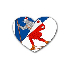 Lillehammer Coat of Arms  Rubber Coaster (Heart)