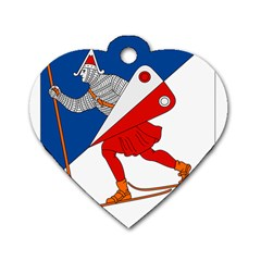 Lillehammer Coat of Arms  Dog Tag Heart (One Side)