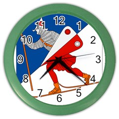 Lillehammer Coat of Arms  Color Wall Clocks