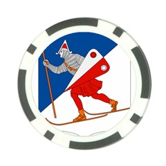 Lillehammer Coat of Arms  Poker Chip Card Guard