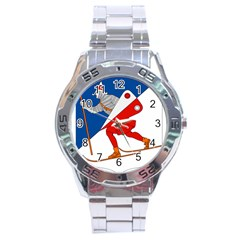 Lillehammer Coat of Arms  Stainless Steel Analogue Watch