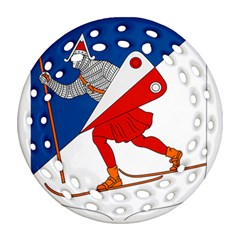 Lillehammer Coat of Arms  Round Filigree Ornament (Two Sides)