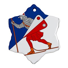 Lillehammer Coat of Arms  Snowflake Ornament (Two Sides)
