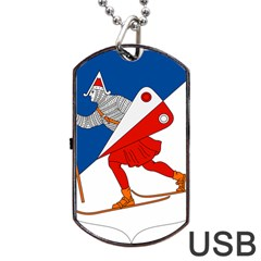 Lillehammer Coat of Arms  Dog Tag USB Flash (Two Sides)
