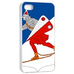 Lillehammer Coat of Arms  Apple iPhone 4/4s Seamless Case (White)