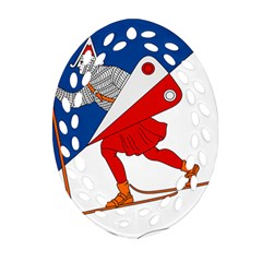 Lillehammer Coat of Arms  Ornament (Oval Filigree)