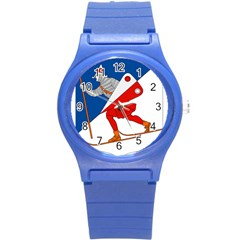 Lillehammer Coat of Arms  Round Plastic Sport Watch (S)