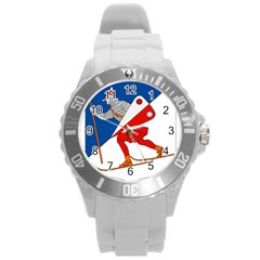 Lillehammer Coat of Arms  Round Plastic Sport Watch (L)