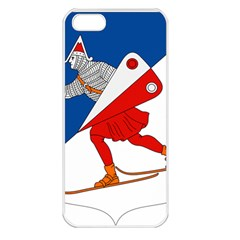 Lillehammer Coat of Arms  Apple iPhone 5 Seamless Case (White)