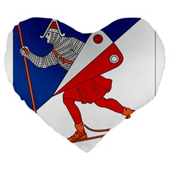 Lillehammer Coat of Arms  Large 19  Premium Heart Shape Cushions