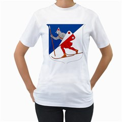 Lillehammer Coat of Arms  Women s T-Shirt (White)