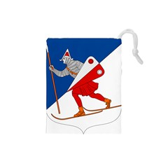 Lillehammer Coat of Arms  Drawstring Pouches (Small)