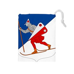 Lillehammer Coat of Arms  Drawstring Pouches (Medium)