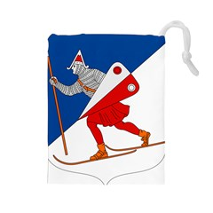 Lillehammer Coat of Arms  Drawstring Pouches (Large)