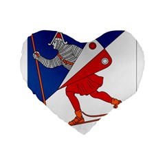 Lillehammer Coat of Arms  Standard 16  Premium Flano Heart Shape Cushions