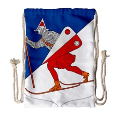 Lillehammer Coat of Arms  Drawstring Bag (Large)