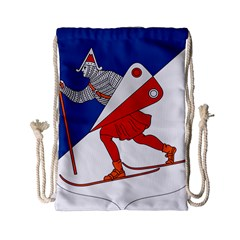 Lillehammer Coat of Arms  Drawstring Bag (Small)