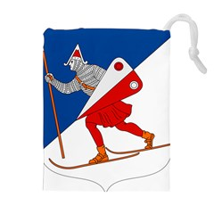 Lillehammer Coat of Arms  Drawstring Pouches (Extra Large)
